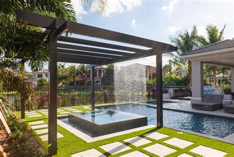 trellis pergolas contemporary pool miami