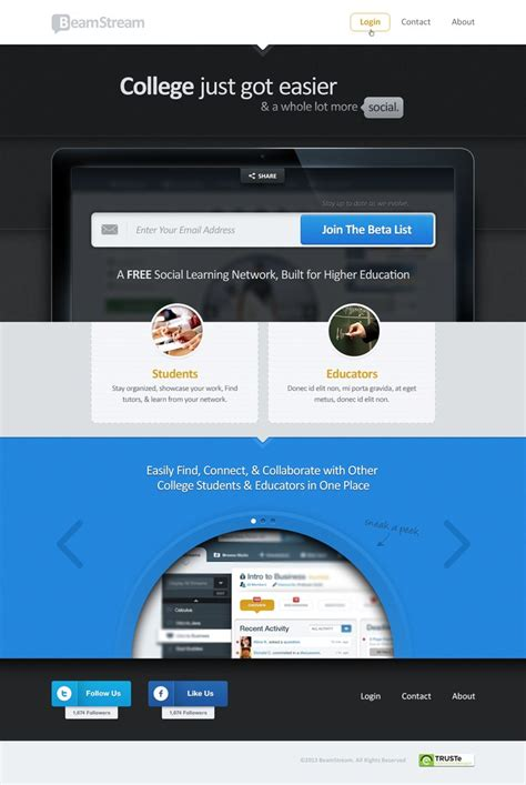 design inspiration showcase showcase of best landing pages design inspiration