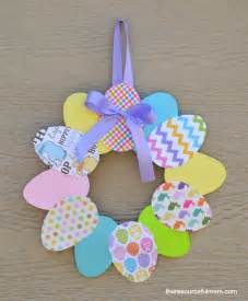 Paper easter egg wreath fun family crafts