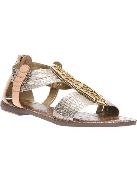 sam edelman sandal sam edelman gatsby sandals in silver pewter lyst