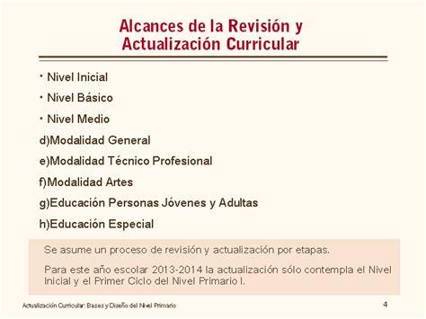 Dise O Curricular Dominicano Actual actualizaci 243 n curricular bases y dise 241 o nivel