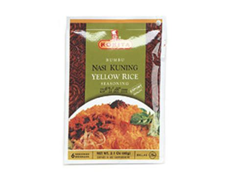 Kokita Bumbu Rendang Padang 180g yellow rice nasi kuning seasoning mix 2 1 oz by kokita