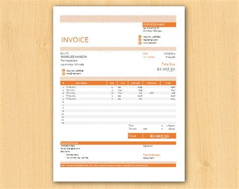 modern invoice template free editable modern excel business invoice template easy to
