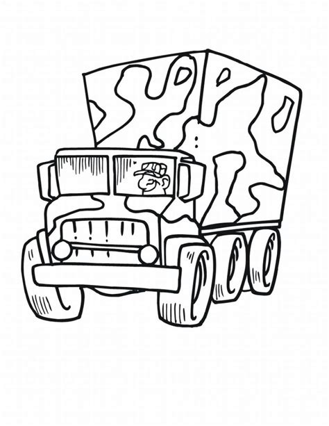 Easy Army Coloring Pages | easy army colouring pages