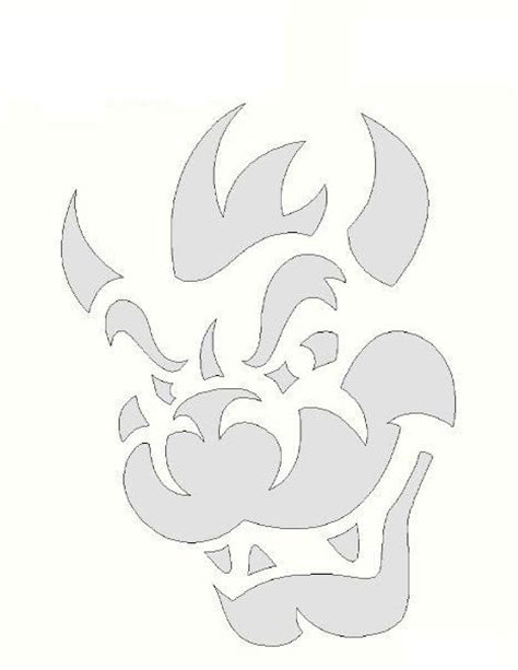 mario brothers pumpkin carving template 24 best bowser images on bowser mario