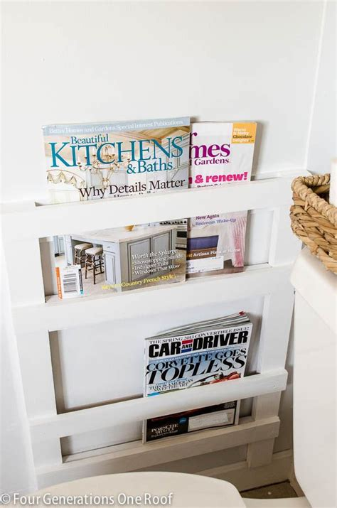wall magazine holder bathroom creative diy magazine racks decorating your small space