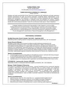 Human Resource Administration Sle Resume by Career Management Plan Template Virtren