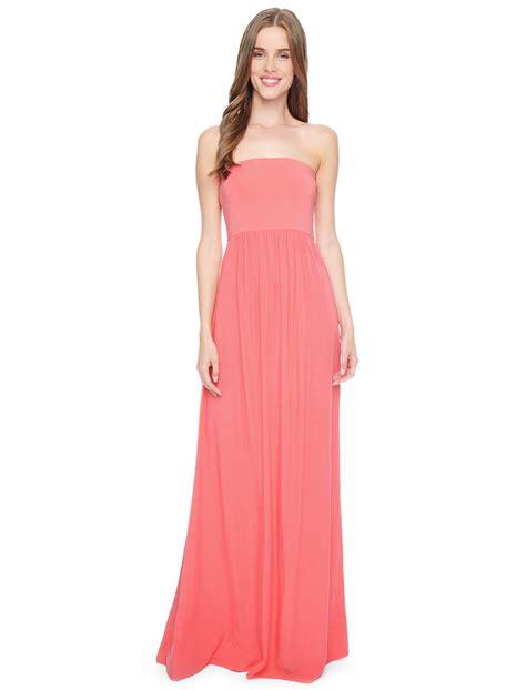 Bw0051 Maxi Dress Pink lyst splendid strapless maxi dress in pink