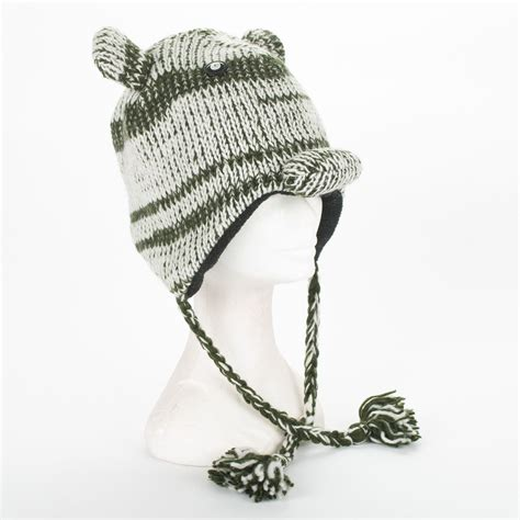 Handmade Winter Hats - handmade knit 100 wool unisex animal winter nepal hat ebay