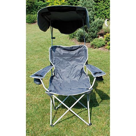 lawn chair with shade quik shade canopy chair grey iwoot
