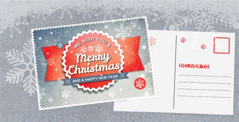 indesign retro christmas postcard template