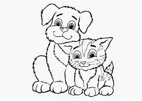 cats and dogs coloring pages free coloring pages and