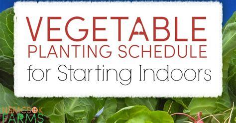 vegetable planting schedule starting seeds indoors