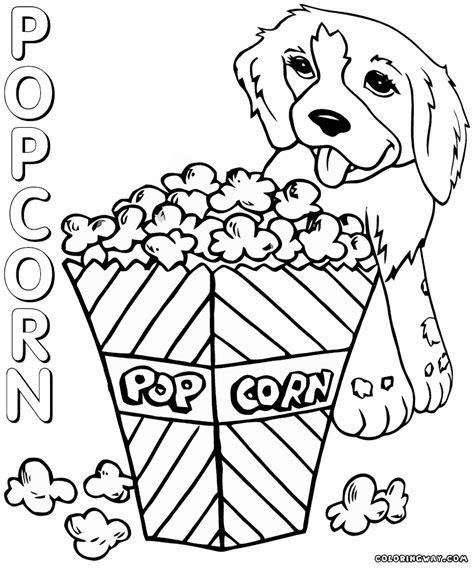 how to color popcorn popcorn coloring pages popcorn box poppy corn shopkins