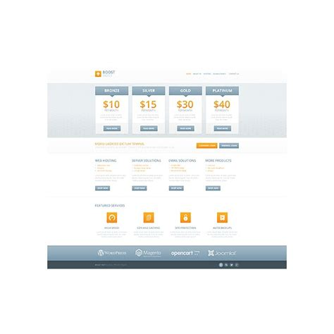 templates bootstrap site web hosting bootstrap website template 45141 discounted