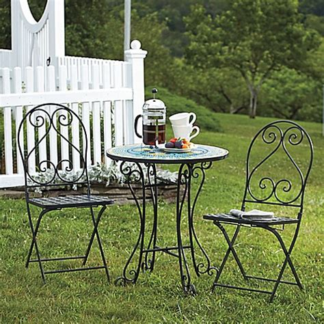 Bed Bath And Beyond Bistro Table Mosaic 3 Bistro Set Bed Bath Beyond