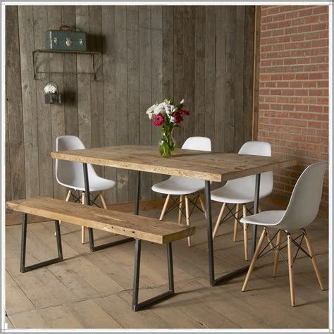 Modern Dining Table Bench Warm And Rustic Dining Room Ideas Furniture Home Design Ideas
