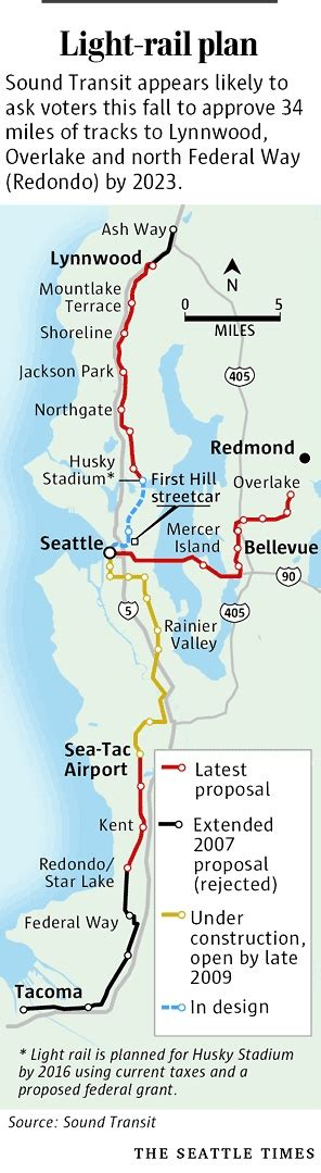 seattle light rail map seattle light rail built proposed transit and its