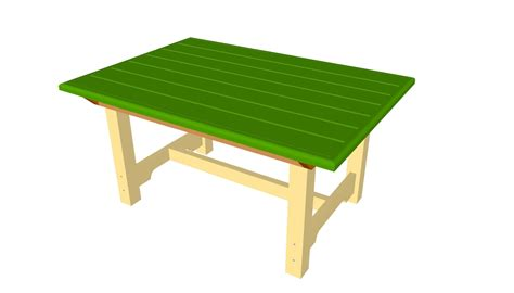 Wooden Patio Table Plans Pdf Plans Outdoor Wooden Table Plans Free