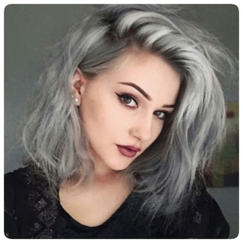 gray hair fad gray hair trend 2016 with lowlights dark brown hairs