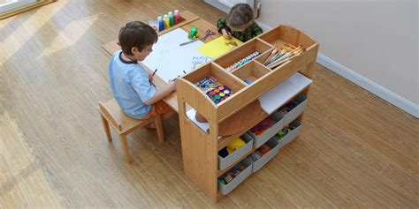 kids art table with storage children s arts and crafts table and chairs children s