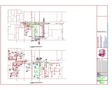 Abc Plumbing Heating Cooling Electric by Autocad Hvac Drafting Sles