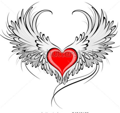 tattoo cuore con le ali angle wings angel wings from my personal collection for