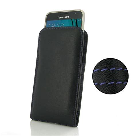 Leather Samsung Galaxy J3 by Samsung Galaxy J3 Leather Sleeve Pouch Purple Stitch
