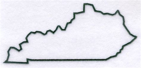 kentucky map outline machine embroidery designs at embroidery library