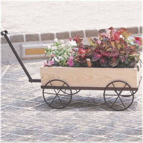 Wagon Flower Planter by Country Flower Wagon Planter Traditional Outdoor Pots