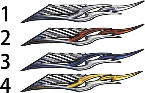 model boat graphics checkered flag racing wing boat decals xtreme digital