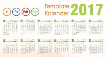 Kalender 2018 Lucu Template Kalender 2017 Vector Editable Daftar