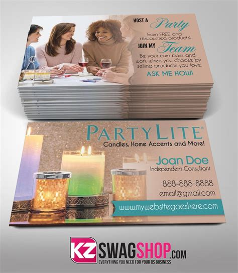 Partylite Business Card Template by Design My Own Business Cards At Home Choice Image Card