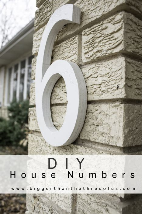 diy house numbers inspire me please linky party 51