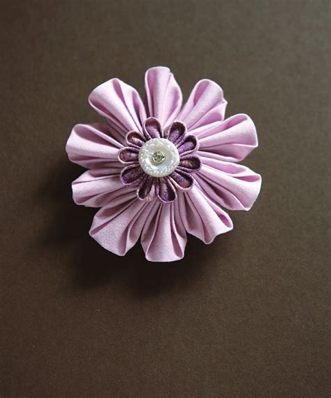 Origami Fabric Flowers - pin origami fabric flower folding on