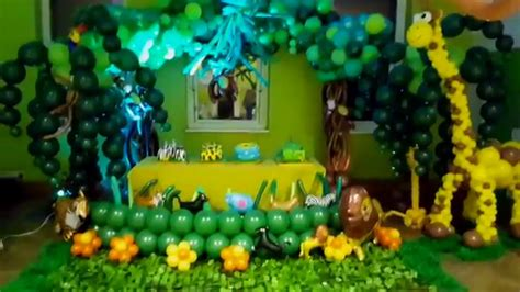 theme decoration balloon ideas jungle themed decoration
