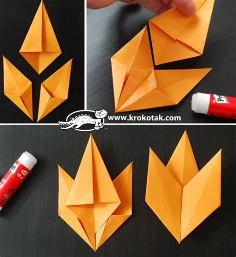 Simple Origami Leaf - origami fall leaf diy paper craft beesdiy