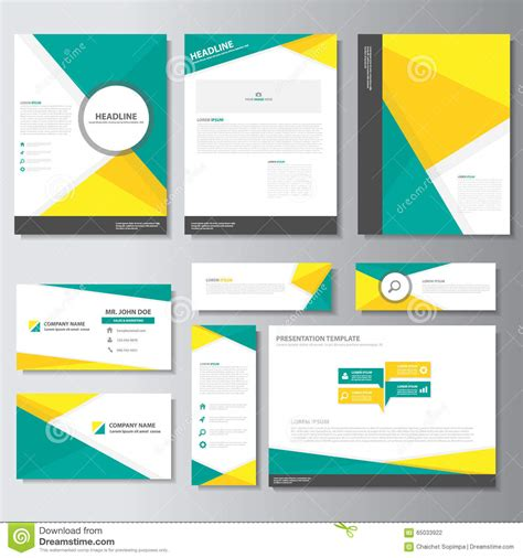 presentation cards template green yellow business brochure flyer leaflet presentation