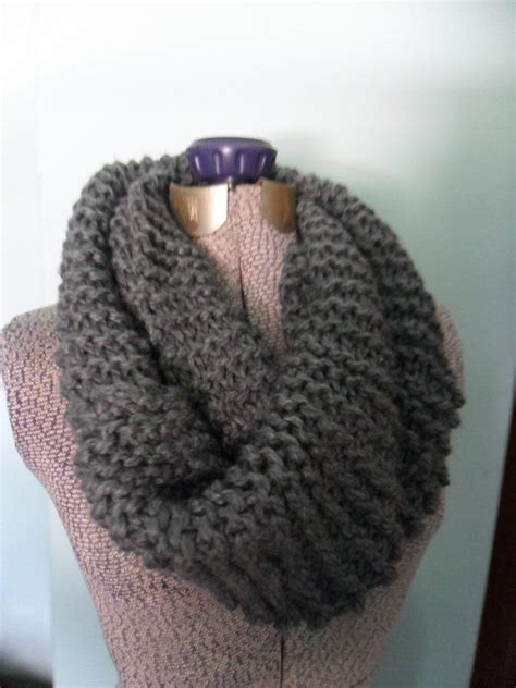 chunky knit infinity scarf chunky knit infinity scarf gray snood chunky cowl