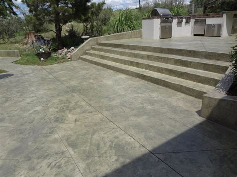 concrete patio steps decorative sted and stained concrete steps and patio yelp