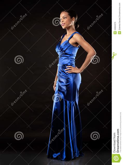 name of black women in blue dress in viagra commercial black woman in evening gown stock image image 34684075