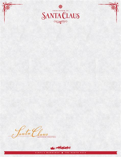 santa letterhead template sign up to receive your free quot from the desk of santa
