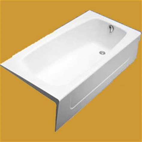 recessed bathtub