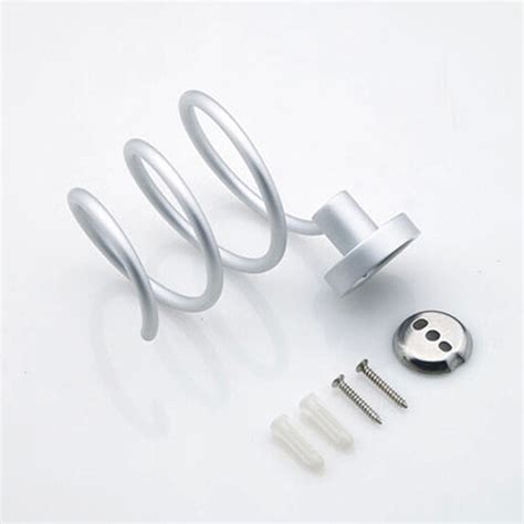 Hair Dryer And Flat Iron Holder Wall Mount aluminum hair dryer flat iron spiral stand holder