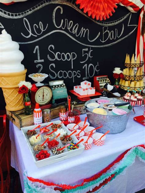 party themes bar the 11 best ice cream station ideas the eleven best