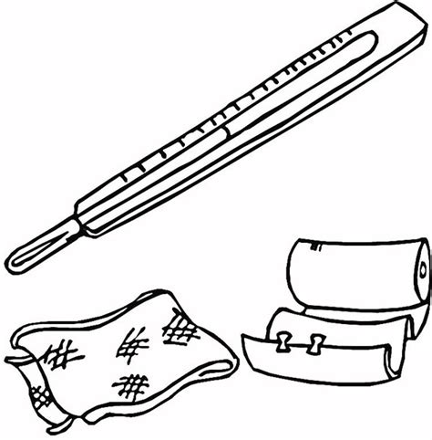 coloring page doctor tools free doctor tools kit coloring pages