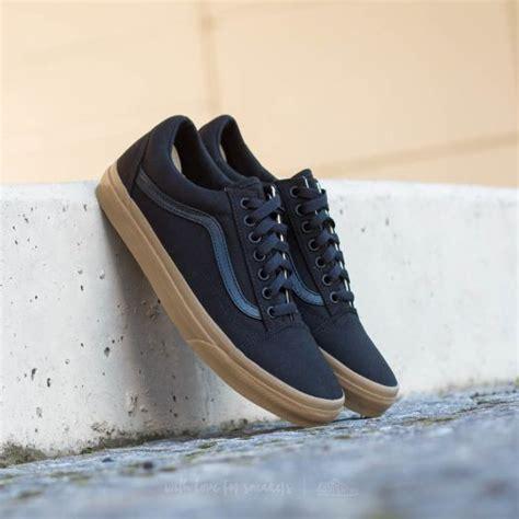 Sepatu Vans Skool Blue Black vans skool canvas gum black light gum footshop
