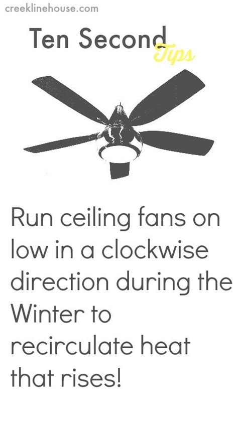 How Much Energy Does A Ceiling Fan Use by Saving On Winter Energy Costs With Ceiling Fans Ten