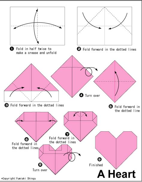 Of Folding Paper Into Shapes - 蛛atwe serduszko jako dekoracja do pokoju na origami