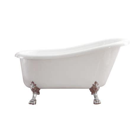 5 foot whirlpool bathtub azzuri elise 5 6 ft acrylic slipper claw foot non